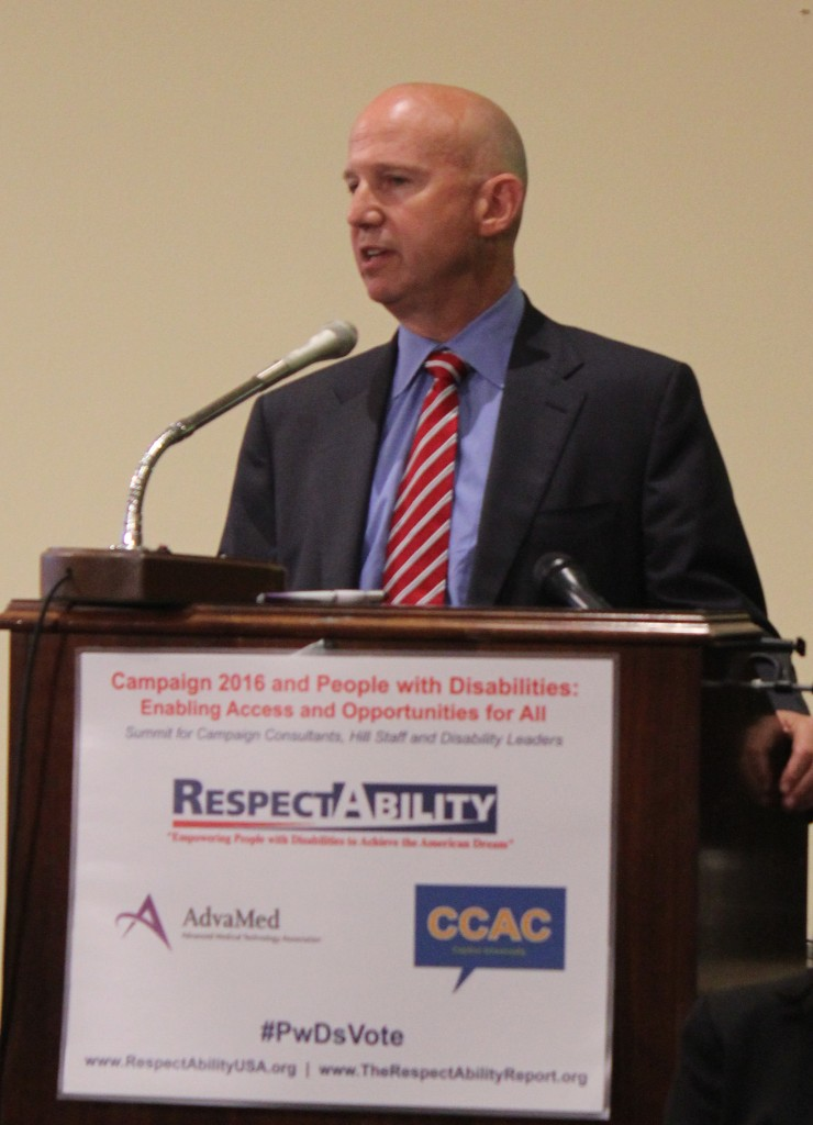 Governor Jack Markell speaks at RespectAbility Forum #PwDsVote