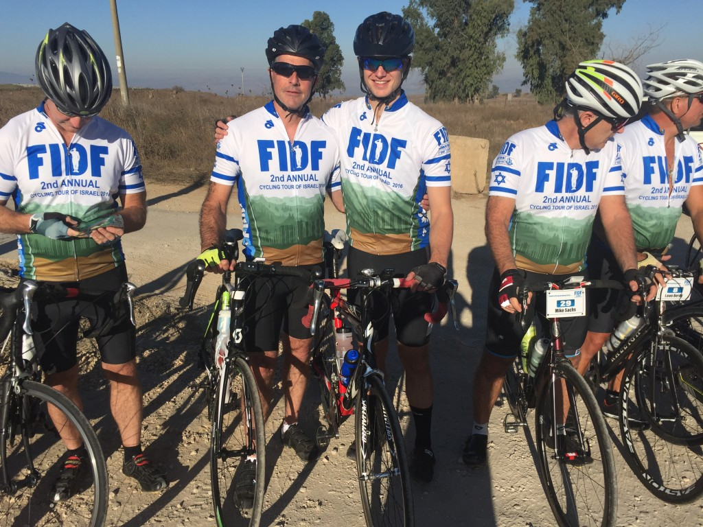 The FIDF Cycling Tour of Israel (Courtesy of Jonathan Bernstein/FIDF)