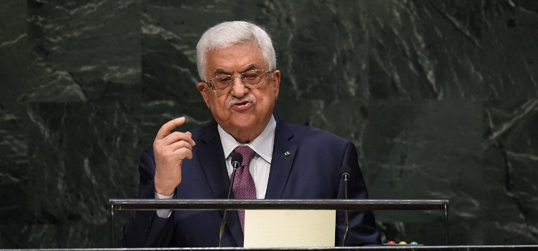 President Abbas delivers his speech at the UN