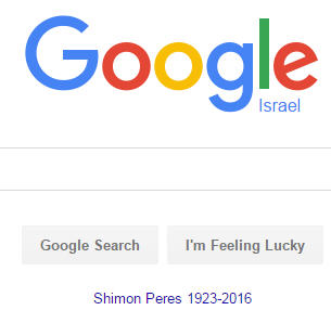 Google Israel the day Peres past away