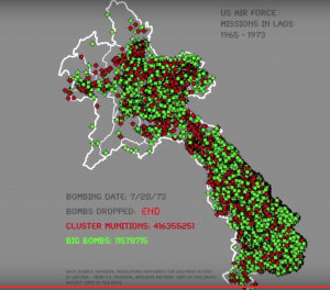 Areas bombed by the US in Laos (Watch the video clip).