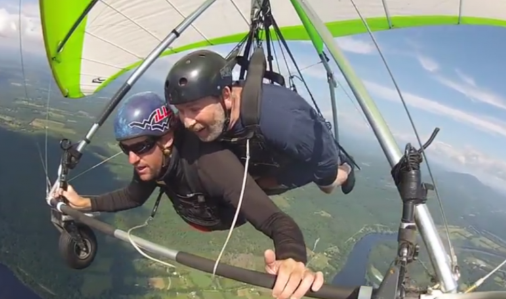 No Big Deal - This is Kenny celebrating his 60th birthday hang gliding in New England