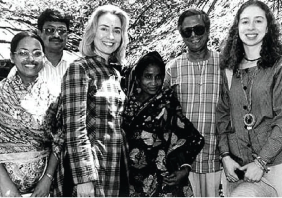 Hillary visited Dhaka many times to convince Prime Minister Sheikh Hasina not to break the Grameen Bank into 18 pieces.