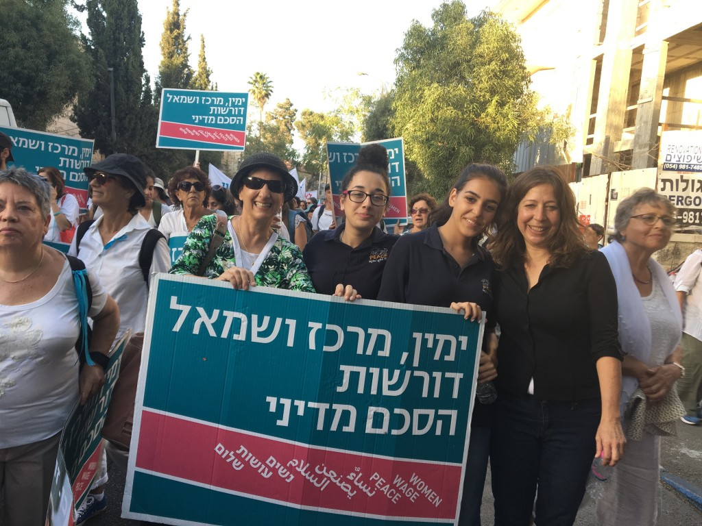 Jewish and Palestinian Women Marching for Peace