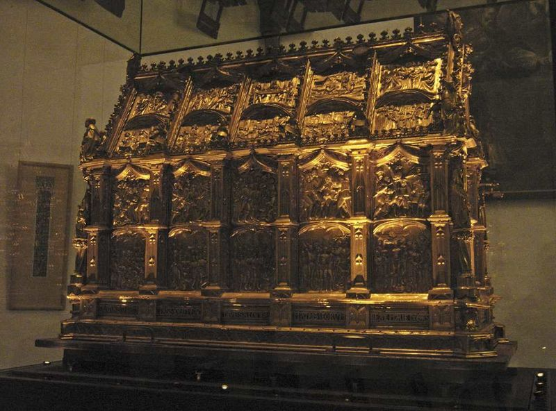 What is believed to be the Maccabees' relics – kept in the Maccabees Shrine – is venerated in St. Andrew's Church, Cologne, Germany. (photo credit: Hans Peter Schaefer, Wikimedia Commons)