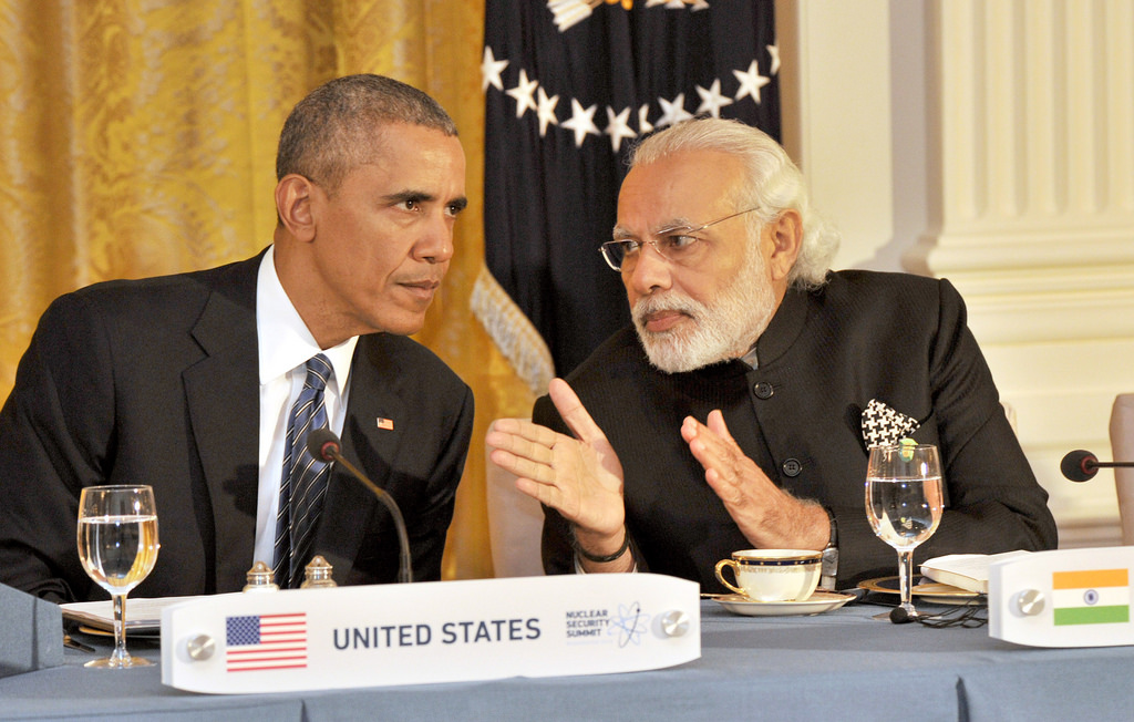 Prime Minister of India Narendra Modi with President of the United States Barack Obama in April 2016.