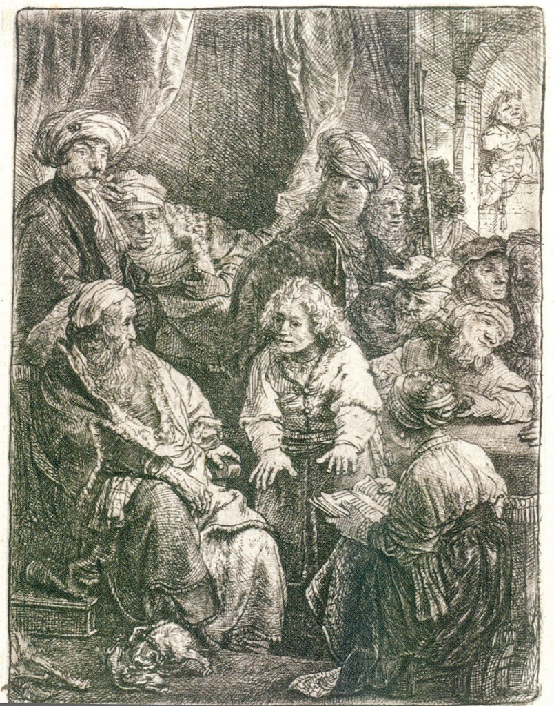 "Rembrandt's ""Joseph Telling His Dreams,"" etching, 1638."