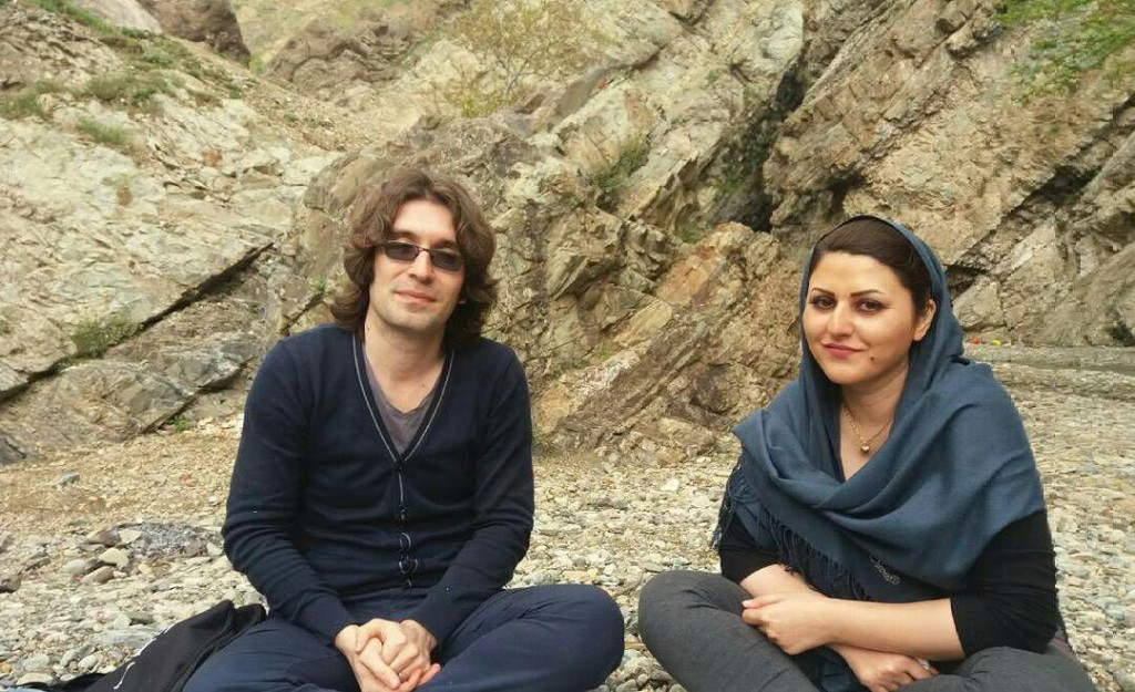 Arash Sadeghi and his wife Golrokh Ebrahimi Iraee, photo credit by Google.
