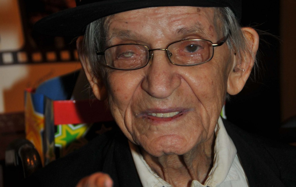 Irwin Corey at his 100th birthday party. Photo by Tim Boxer
