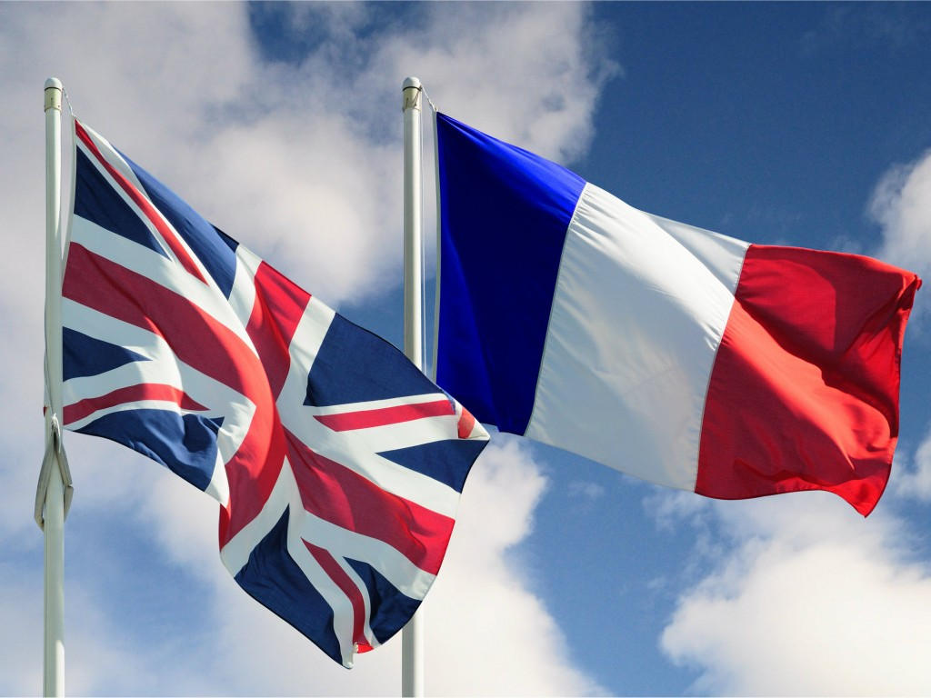 Image result for Britain and France flag