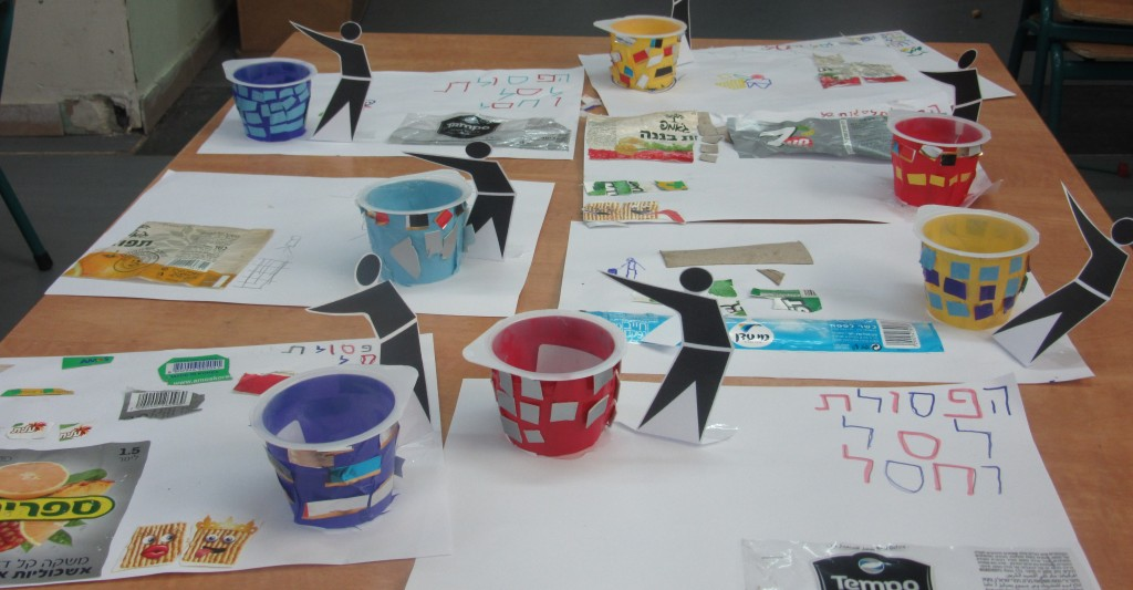"""Try this fun craft activity with kids. It sends a strong message: """"trash goes in the bin"""" (photo credit: Leshomra)"""
