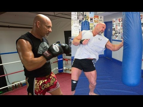 (Courtesy: Goldberg 95 Instagram) Goldberg doing his Muay Thai training for his WWE Fights