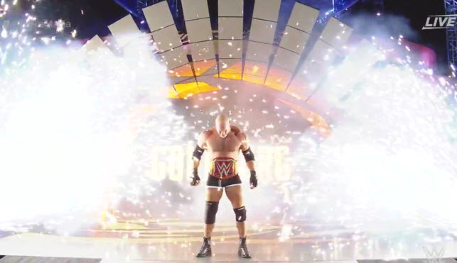 Goldberg's WrestleMania Entrance (Photo Credit:WWE.com)