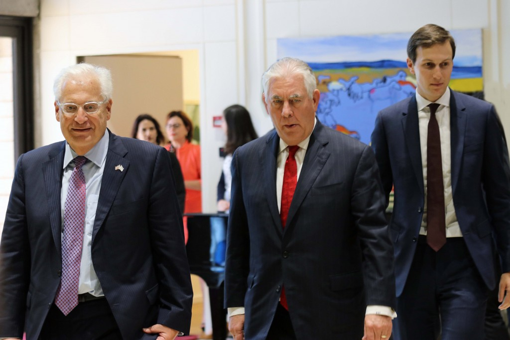 The President's Men: Friedman, Tillerson, Kushner; photo by Carrie Hart