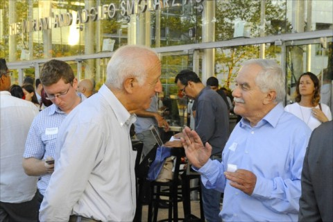 Yair Shamir, at right, is the chairman and co-founder of Gvahim, which on June 4 celebrated its 10th anniversary. Photo: Larry Luxner