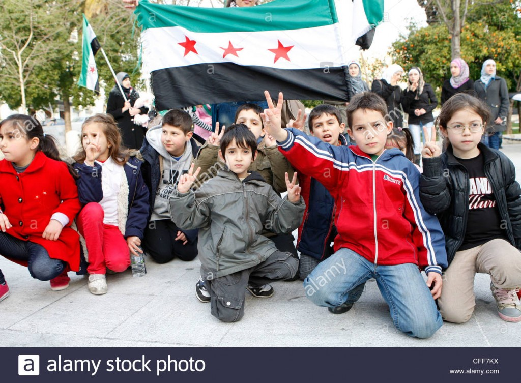 Oh look, Ashkenazi children in Syria......wait, what?