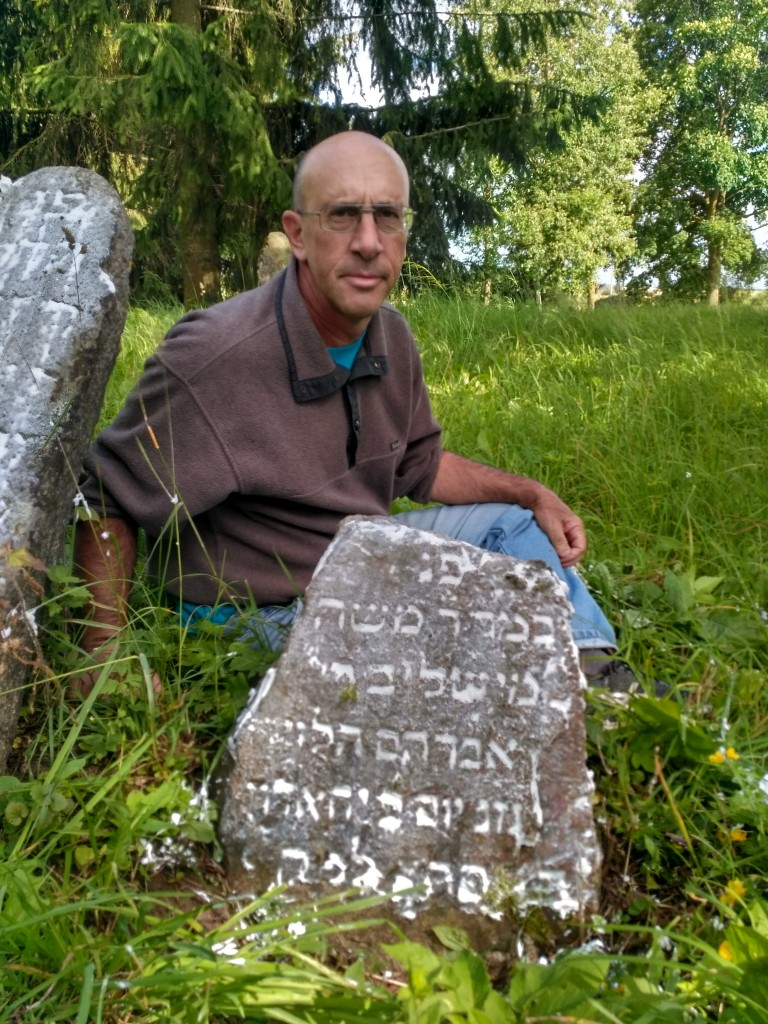 At the grave of my great-great grandfather