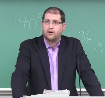 Atty. Michael Sfard speaks at JVP & SJP event. These two NGOs participate in or lead almost every single anti-Israel campaign taking place in the US (screenshot YouTube)