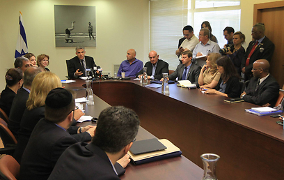 Discussing important issues as a party in the Knesset