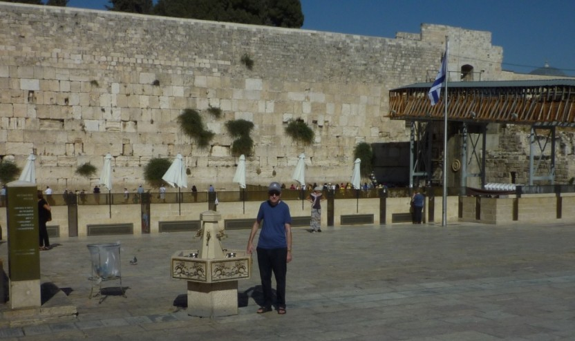 Edward Doff in Jerusalem at the Kotel