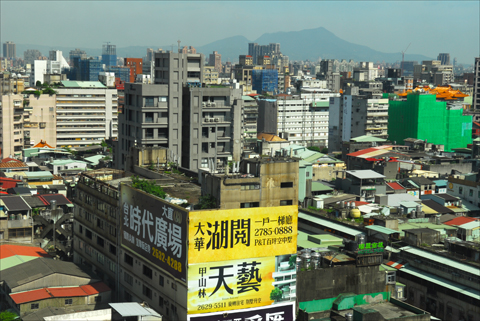 Panoramic view from the 16th floor of Taipei's Palais de Chine Hotel. Photo: Larry Luxner