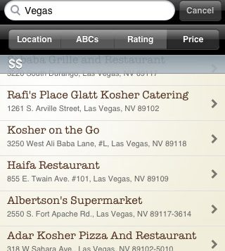 New Apps Locate Kosher Fare