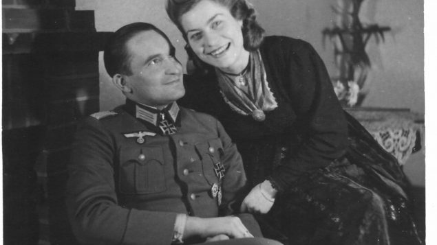 His father, left, fought for the Nazis.