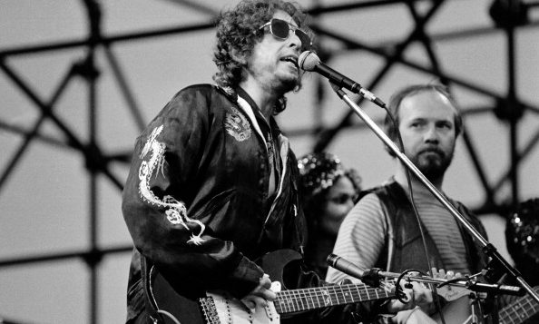 US poet and folk singer Bob Dylan performs on June 21, 1981 in Toulouse. Getty