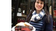 Mile End's Rae Cohen with the deli's signature dish, Montreal-style smoked brisket
