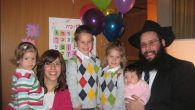 Rabbi Zalman and Nechama Duchman and their children. The Chabad emissaries settled in Roosevelt Island four years ago.