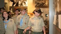 Orthodox scouts at the Museum of Jewish Heritage last week. Photo: Michael Datikash