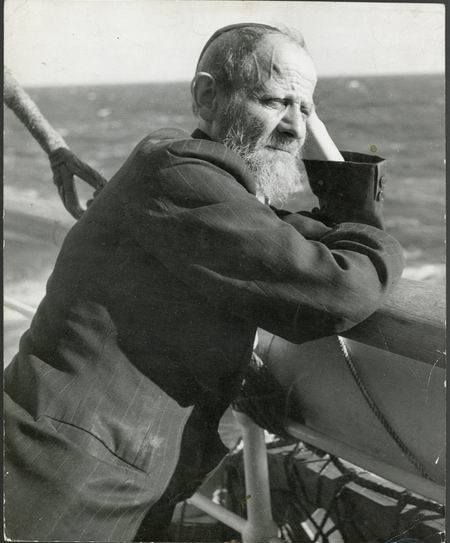 Jewish refugee aboard the S.S. Serpa Pinto, en route to New York from Portugal, c1943. PHOTO: AMERICAN JEWISH JOINT DISTRIBUTION