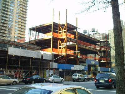 Recession, cost overruns have halted construction on new Lincoln Square Synagogue on Amsterdam Ave.