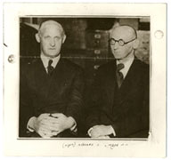 Israel Joshua Singer and Isaac Bashevis Singer. From the Archives of the YIVO Institute for Jewish Research, NY.