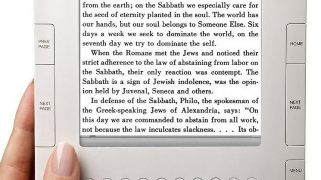 Is an e-book kosher to read on Shabbat?