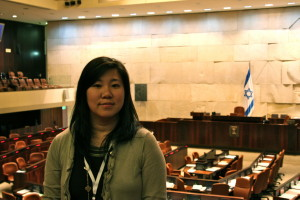 Grace Meng at the Knesset