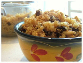 Quinoa with Raisins and Toasted Pine Nuts, Photo by Amy Spiro