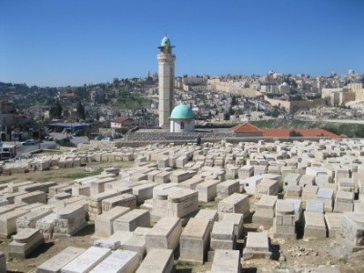 Arab homes have been built right next to — occasionally within — 3,000-year-old Mount of Olives cemetery. Photo: Michele Chabin