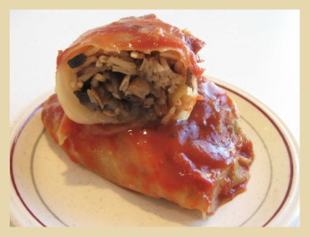Vegetarian Stuffed Cabbage. Photo by Amy Spiro