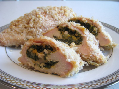 Spinach and Sweet Potato Stuffed Chicken. Photo by Amy Spiro