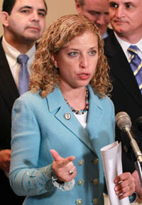 New DNC chair Rep. Debbie Wasserman Schultz. getty images