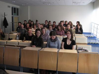 Hebrew Language students at Adam Mickiewicz University, a number of whom took part in the author's seder. Steve Lipman