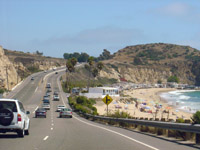 A view of the Pacific Coast Highway.