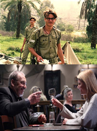 """Infiltration,"" top, and ""Naomi"" are two Israeli films that will screen at the first Gold Coast International Film Festival."