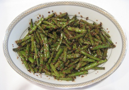 Sesame Green Beans. Photo by Amy Spiro