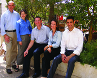 American immigrant Esther Loewy, second from left, and colleagues at their consulting firm.