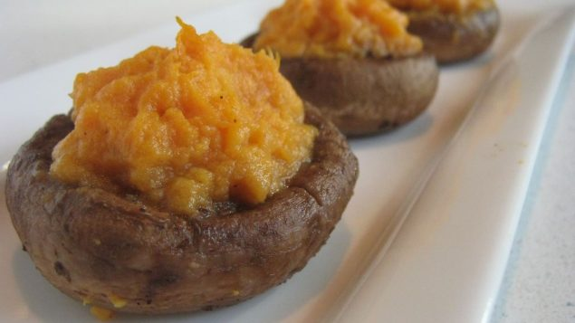 Sweet potato-stuffed mushrooms. Photo by Amy Spiro