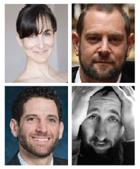 Rabbinic hipsters, clockwise from top left: Jen Krause, Amichai Lau-Lavie, Simcha Weinstein and Darby Jared Leigh.
