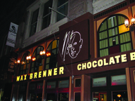Max Brenner Chocolate Bar chain in Manhattan.