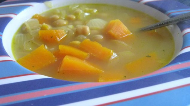 Butternut squash and chickpea soup. Photo by Amy Spiro